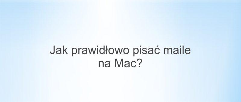 Mail na Mac